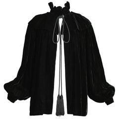 Vintage Yves Saint Laurent Black Velvet Cloak