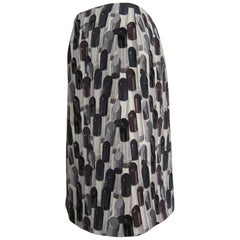 Prada Lipstick Print Skirt Black Grey SS2000