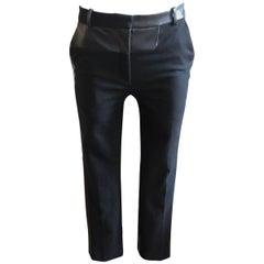Celine Wool and Lambskin Trousers 34 Fr