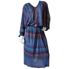 1970s Missoni Silk Abstract Dress