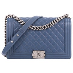 Chanel Boy Flap Bag Quilted Lambskin New Medium