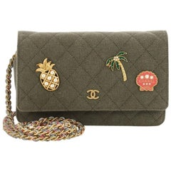 Chanel Cuba Charms Wallet on Chain Quilted Canvas