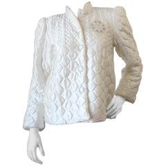 1980s Christian Dior Quilted Bed Jacket