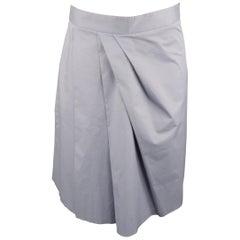 MOSCHINO Size 4 Gray Cotton Skirt