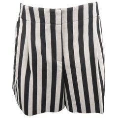 AKRIS Size 10 Black & White Cotton Blend Shorts
