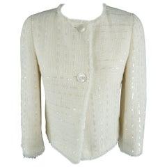 CHANEL Size 4 Cream Jacket / Blazer