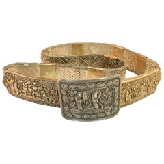 Early 19th Century Asian Silver Belt, China 1830s