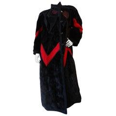 1980s Koos Van Den Akker Mink Patchwork Coat