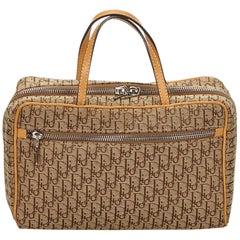 Dior Brown x Beige Oblique Canvas Handbag