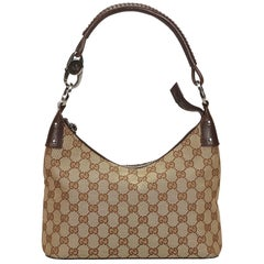 Gucci Brown Guccissima Jacquard Hobo