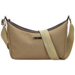 Gucci Brown x Beige Canvas Crossbody Bag