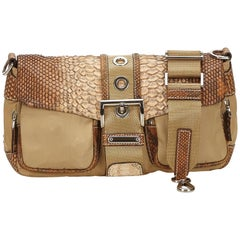 Prada Brown Nylon Baguette