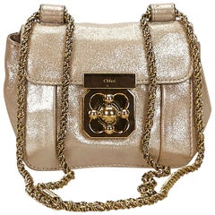 Chloe Pink x Light Pink Metallic Leather Elsie Crossbody
