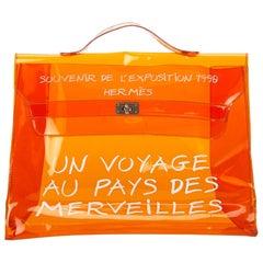 Hermes Orange Vinyl Kelly