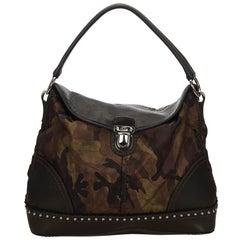 Prada Black x Brown x Khaki Nylon Camouflage Handbag