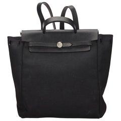 Hermes Black Herbag Backpack