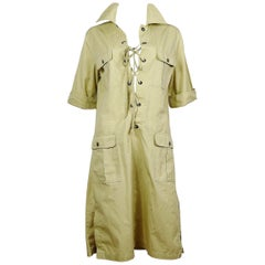 Yves Saint Laurent YSL Vintage Iconic Safari Dress US Size 10
