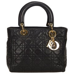 Dior Black Cannage Lady Dior Handbag