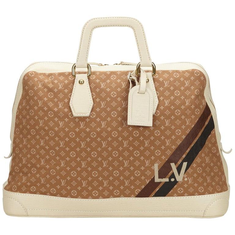 Louis Vuitton Brown x Camel Mini Lin Initiales Isfahan Travel Bag