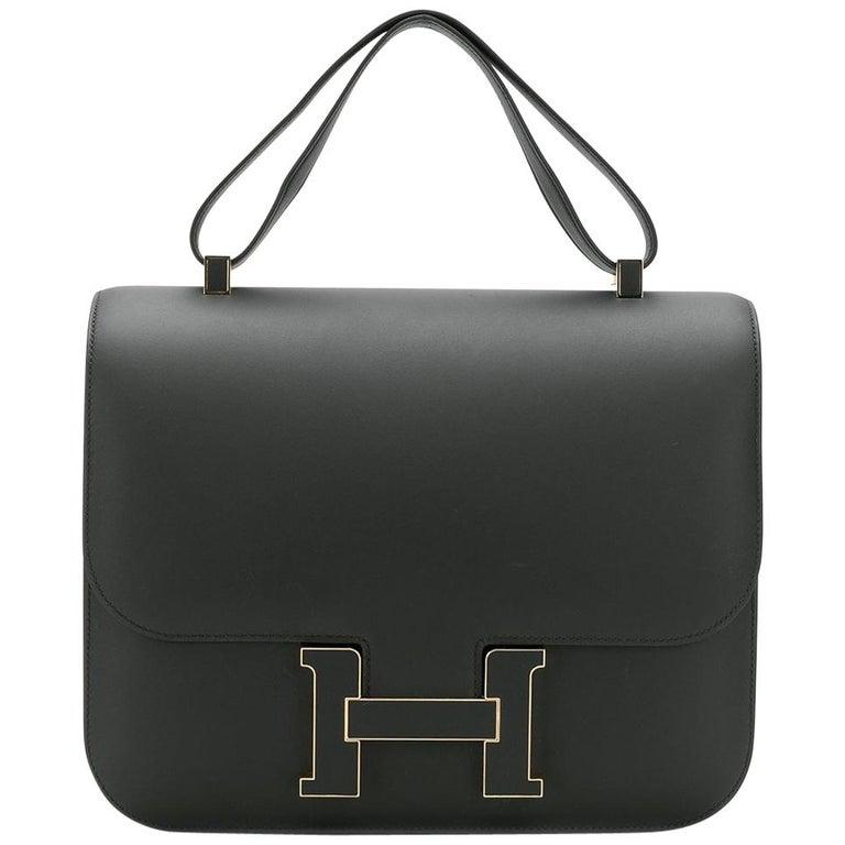 Hermès Limited Edition 29cm Cartable Constance Bag For Sale