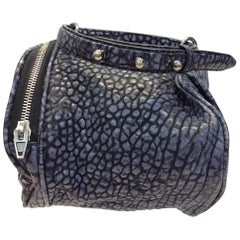 Alexander Wang Blue and Black Leather Rockie Duffel Purse