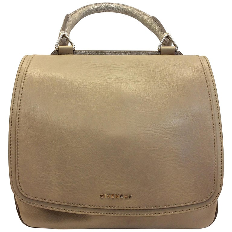Givenchy Tan Leather Flap Bag