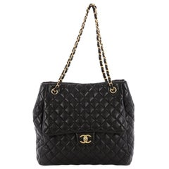 Chanel Fluffy CC Tote Quilted Lambskin Medium