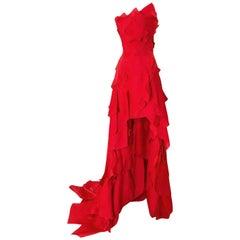 F/W 2001 Jean Louis Scherrer Look 7 Haute Couture Runway Sample Dress