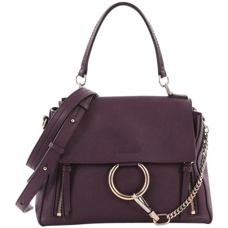 Chloe Faye Day Handbag Leather with Suede Small