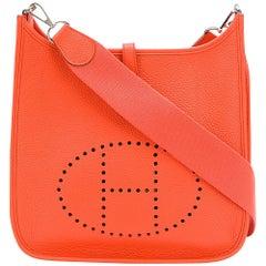Hermès Poppy Orange 29cm Evelyne Shoulder Bag