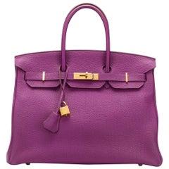 Hermès Anemone 35cm Birkin Bag
