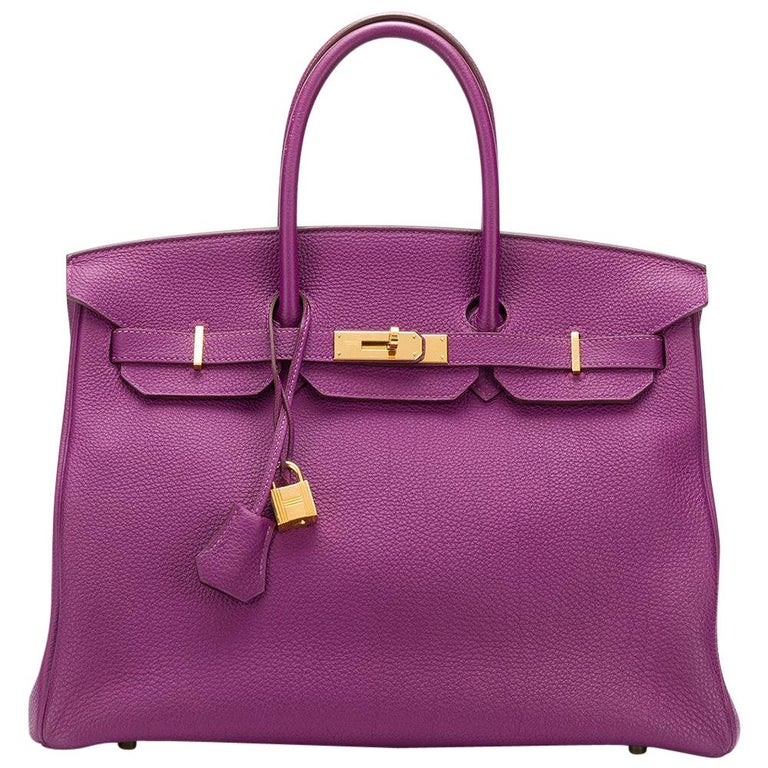 7794ffa2895d Hermès Anemone 35cm Birkin Bag at 1stdibs