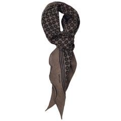 Tom Ford Men's Brown Geometric Print Angular Edges Cotton Scarf