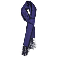 Tom Ford Men's Purple Geometric Print Silk Cashmere Scarf