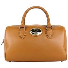 Roberto Cavalli Womens Firenze Nude Leather Duffle Satchel Bag
