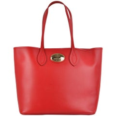 Roberto Cavalli Womens Firenze Red Large Leather Shopping Tote Bag