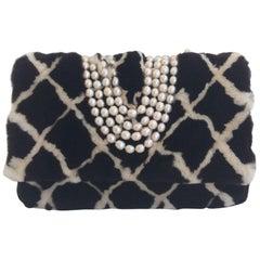 Chanel Mink Shoulder Bag With Pearl Straps
