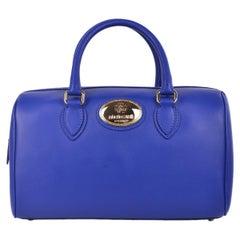 Roberto Cavalli Women's Firenze Blue Leather Duffle Satchel Bag