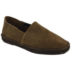 Tom Ford Men's Chocolate Barnes Suede Slip-On Espadrille Shoes