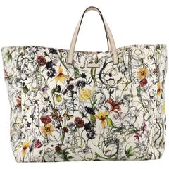 Gucci Open Tote Flora Canvas Large