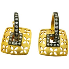 Meghna Jewels Square Filigree & Hoop Earrings