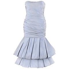 "ALEXANDER McQUEEN S/S 2007 ""Sarabande"" Iridescent Silk Pleated Mermaid Dress"