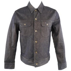 RAG & BONE M Indigo Solid Denim Jacket