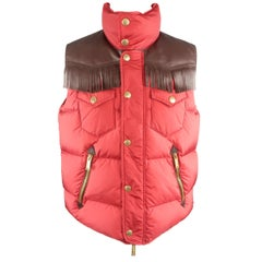 DSQUARED2 40 Burgundy Quilted Vest