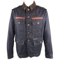 DSQUARED2 44 Indigo Solid Denim Jacket