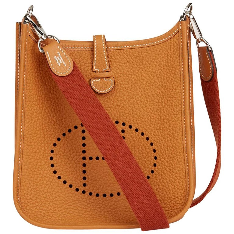 2018 Hermes Gold & Cuivre Clemence Leather Evelyne III TPM Amazone
