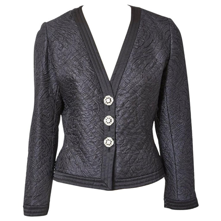 Yves Saint Laurent Rive Gauche Quilted Evening Jacket For Sale