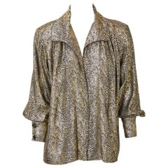 Yves Saint Laurent Rive Gauche Gold Lame Jacket