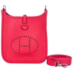 Hermes Evelyne III TPM Bag Rose Extreme Pink Crossbody Clemence Palladium