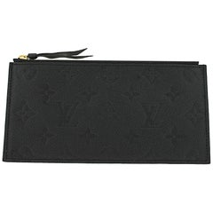 Louis Vuitton Noir Black Felicie Empreinte Leather Zippered Insert Pouch Wallet